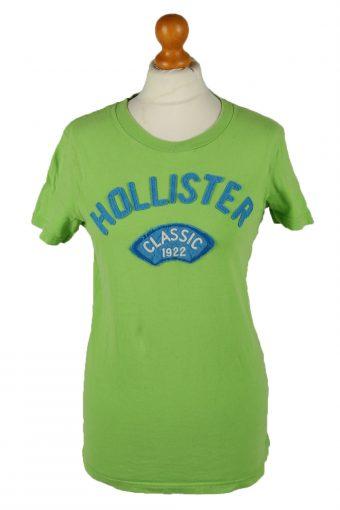 Hollister Womens T-Shirt Tee Crew Neck Green S