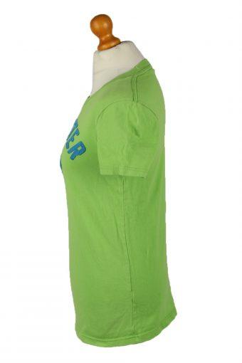 Vintage Hollister Womens T-Shirt Tee Crew Neck S Green TS446-136443