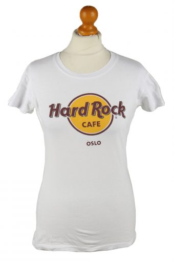 Hard Rock Cafe Womens T-Shirt Tee Crew Neck White S