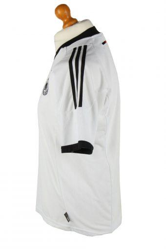 Vintage Adidas Mens T-Shirt Shirt Deutscher Fussball Bund 3 Stars S White TS485-139453