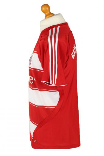 Vintage Adidas Mens T-Shirt Shirt FC Bayern Munchen Red-White TS492-139481