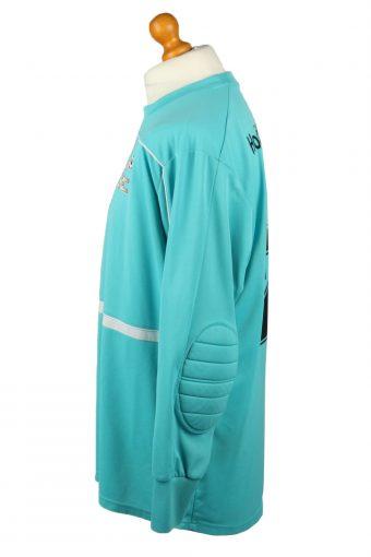 Vintage Adidas Football Jersey Shirt ZVV de Hoven Elbow Padding Goalkeeper 2XL Turquoise CW0806-142916