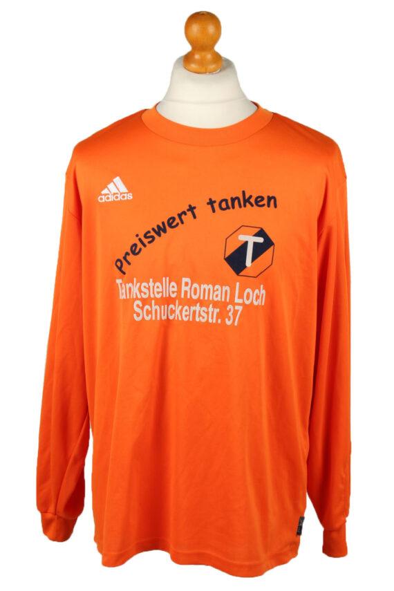 Vintage Adidas Football Jersey Shirt Sport Club Babenhausen No 5 L Orange CW0814-0