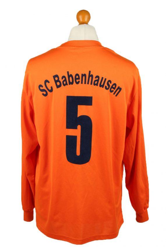 Vintage Adidas Football Jersey Shirt Sport Club Babenhausen No 5 L Orange CW0814-142949