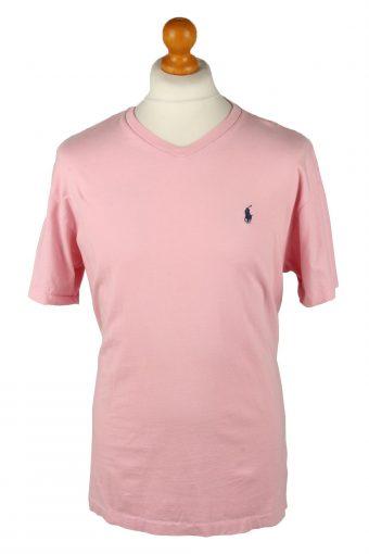 Polo Ralph Lauren Mens T-Shirt Tee V Neck Pink M