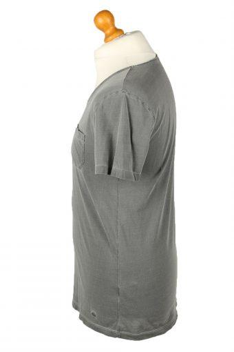 Vintage Hugo Boss Mens T-Shirt Shirt Tee Crew Neck S Grey TS513-141834