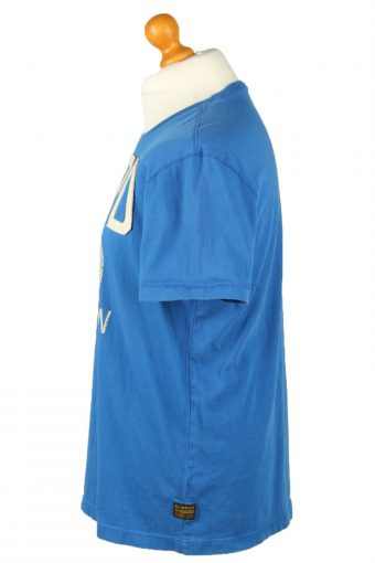 Vintage G-Star Mens T-Shirt Shirt Tee Crew Neck L Blue TS516-141846