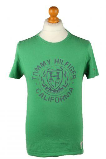 Tommy Hilfiger Mens T-Shirt Crew Neck Green S