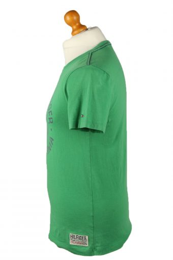 Vintage Tommy Hilfiger Mens T-Shirt Shirt Tee Crew Neck S Green TS522-141870