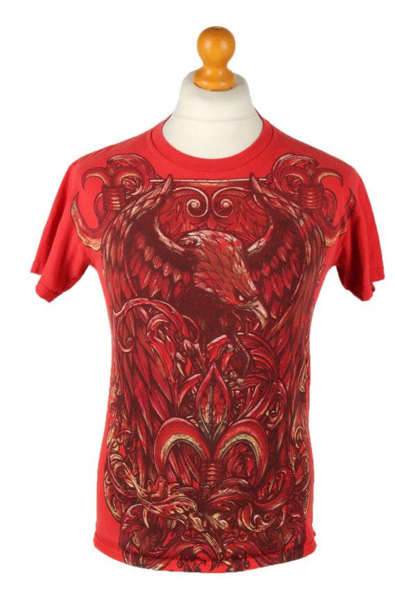 Vintage Unisex Crew Neck T-Shirt Red TS534-0