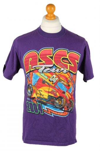 90s T-Shirt Retro Shirt Purple M