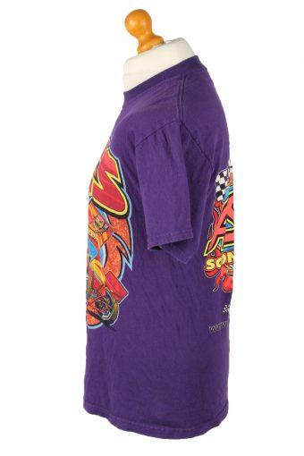 Vintage Jerzees Unisex T-Shirt Tee ASCS Tour 2004 Crew Neck M Purple TS535-142064