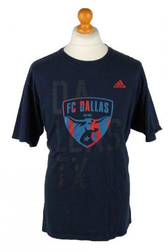 Adidas T-Shirt Tee FC Dallas 96 Crew Neck Navy Blue XL