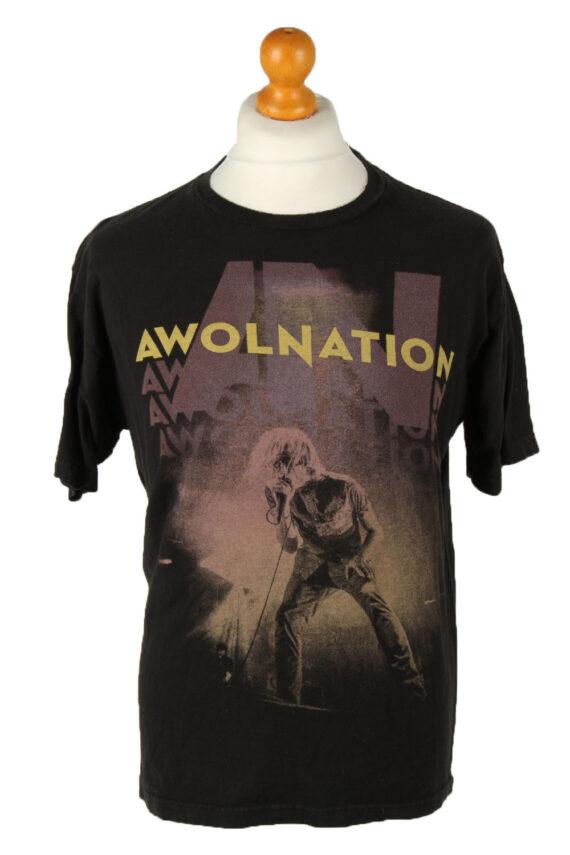 Vintage Awolnation Unisex T-Shirt Tee Rock Band Crew Neck L Black TS545-0