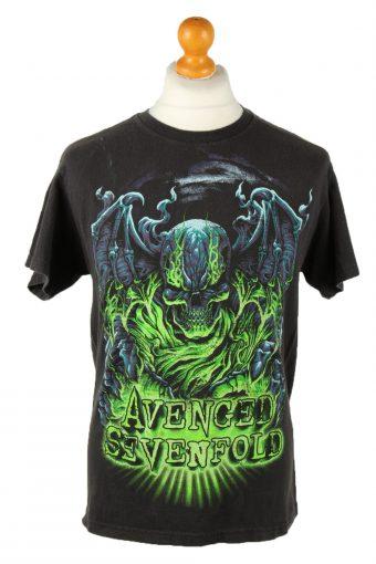 90s T-Shirt Printed Crew Neck Black M