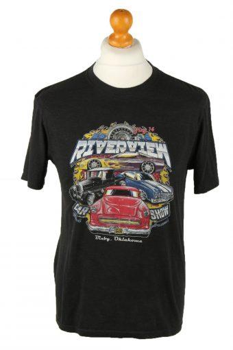 90s T-Shirt Printed Oklahoma Crew Neck Black S