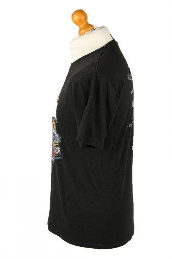 Vintage District Made Unisex T-Shirt Tee Printed Oklahoma Crew Neck S Black TS549-142120