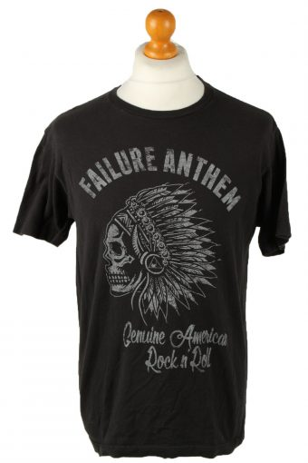 90s T-Shirt Printed Rock in Roll Black L