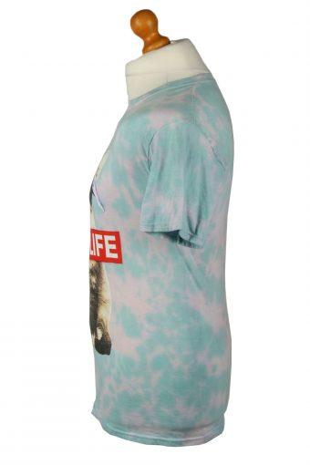 Vintage Tie Dye Unisex T-Shirt Retro S Turquoise TS557-142262