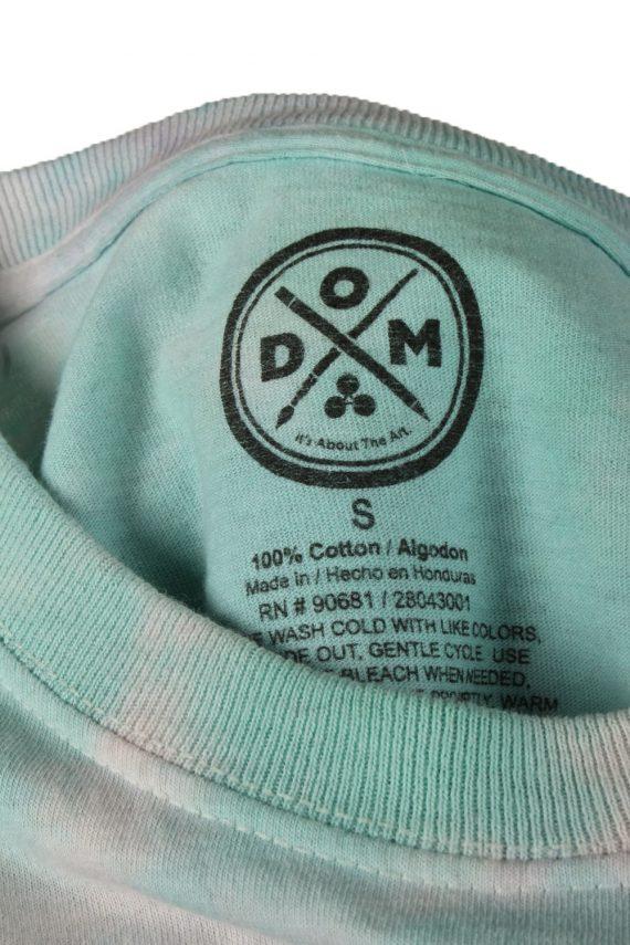 Vintage Tie Dye Unisex T-Shirt Retro S Turquoise TS557-142264