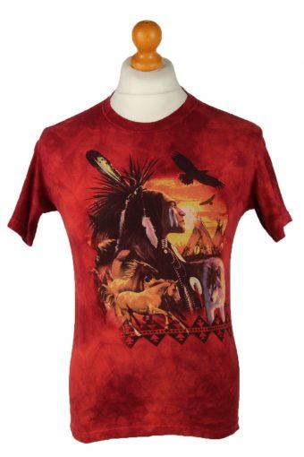 Tie Dye T-Shirt 90s Retro Red L