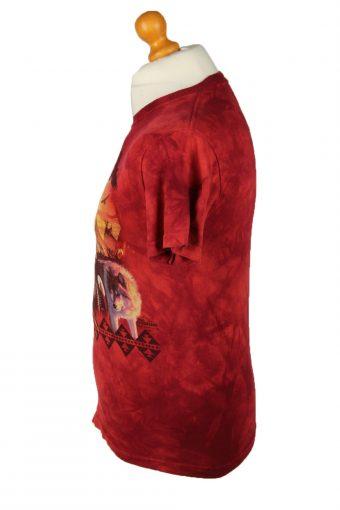 Vintage Tie Dye Unisex T-Shirt Retro L Red TS568-142306