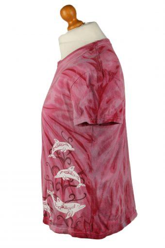 Vintage Tie Dye Unisex T-Shirt Tee Retro XL Pink TS582-142362