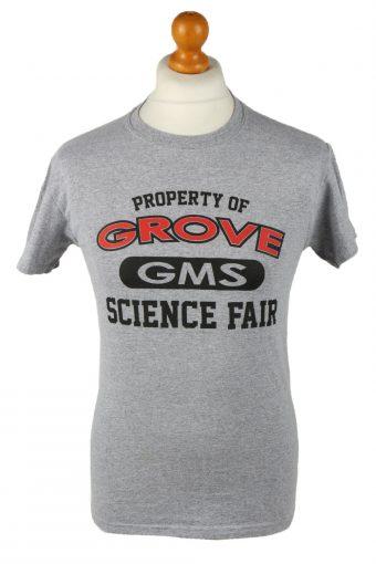 90s T-Shirt Top Crew Neck Grey S