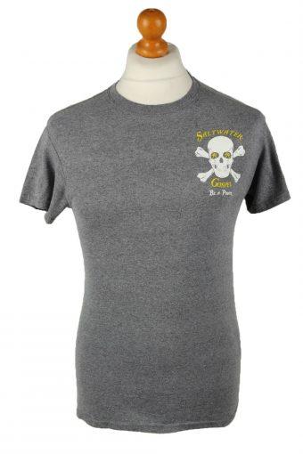 90s T-Shirt Salt Water Gospel Crew Neck Grey S