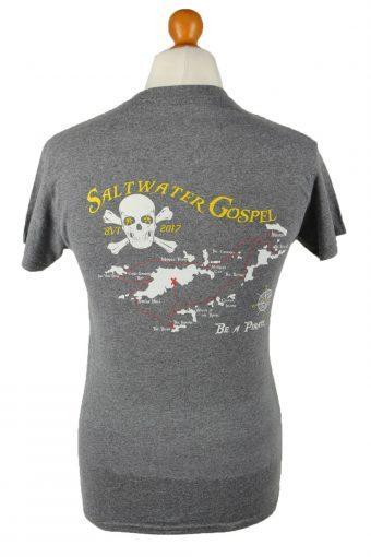 Vintage Gildan Unisex T-Shirt Tee Top Salt Water Gospel Crew Neck S Grey TS592-142505