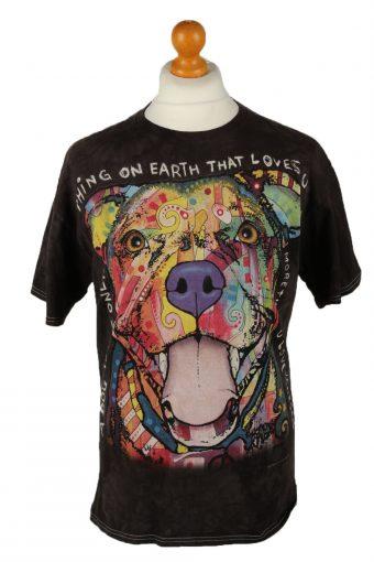 3D Tees Crew Neck T-Shirt Black L