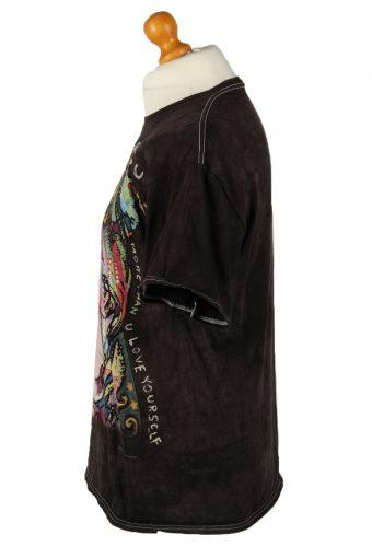 Vintage 3D Tees Unisex Crew Neck T-Shirt L Black TS597-142419