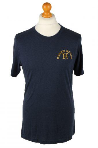 90s T-Shirt Top Crew Neck Navy Blue XL