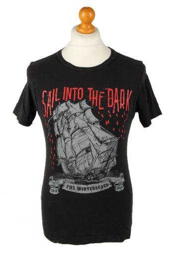 90s T-Shirt Sail Into The Dark Ship Black S