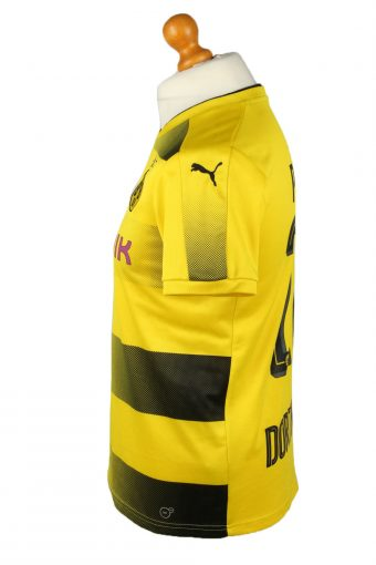Vintage Puma Football Jersey Shirt T-Shirt Borussia Dortmund 09 BVB 15-16Y Yellow TS619-142788