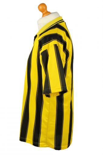 Vintage Adidas Football Jersey Shirt T-Shirt Black Yellow Striped TS632-142840