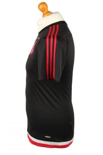 Vintage Adidas Football Jersey Shirt T-Shirt AFC Ajax Amsterdam S Black TS635-142852