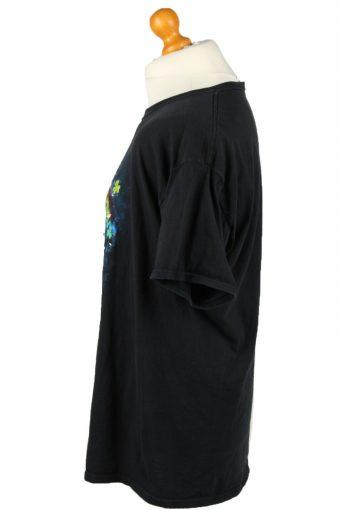 Vintage Fruit Of The Bloom Unisex T-Shirt Shirt Tee Crew Neck Cat Trefoil Printed XL Black TS646-143011