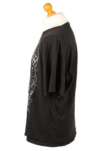 Vintage Johny Cash Unisex T-Shirt Shirt Tee Crew Neck The Man In Black 2XL Black TS647-143015