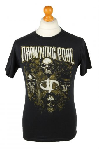Drowning Pool T-Shirt Crew Neck Let The Sin Begin Black S