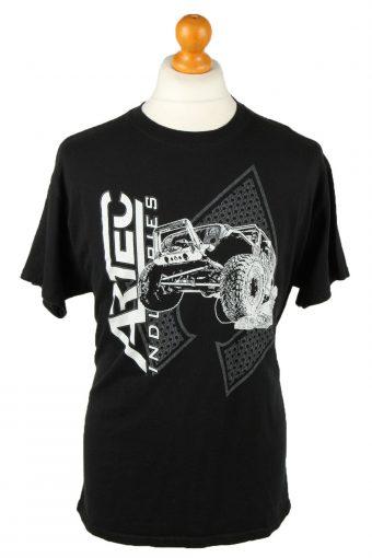 90s Retro T-Shirt Crew Neck Artec Jeep Black L