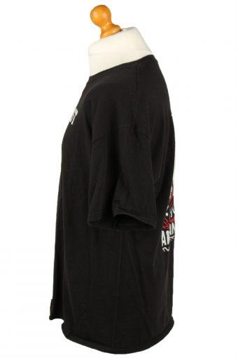 Vintage Hanes Unisex T-Shirt Shirt Tee Crew Neck Button Pusher XL Black TS654-143043