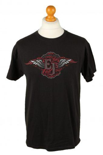90s Retro T-Shirt Crew Neck Eskimo Joe's Black M