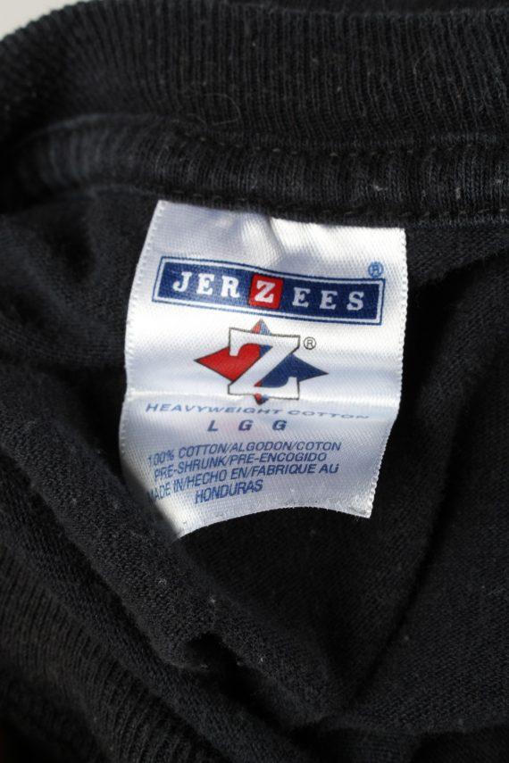 Vintage Jerzees Unisex T-Shirt Shirt Tee Crew Neck Maseca En La Cocina Estrellas L Black TS658-143061