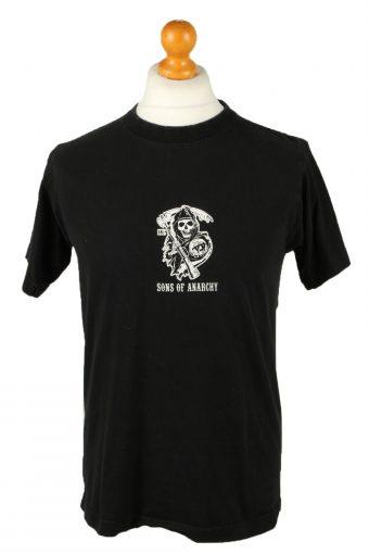 90s Retro T-Shirt Crew Neck Reaper Crew California Black M