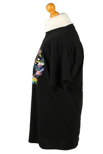 Vintage Gildan Unisex T-Shirt Shirt Tee Crew Neck Printed L Black TS662-143075