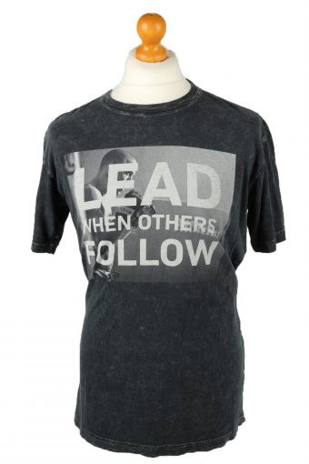 Affliction Live Fast T-Shirt Lead When Others Follow Black L