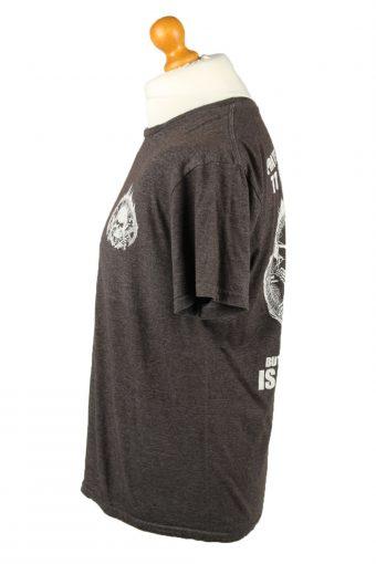 Vintage Teespring Unisex T-Shirt Shirt Tee Crew Neck Skull Slogan L Grey TS666-143091