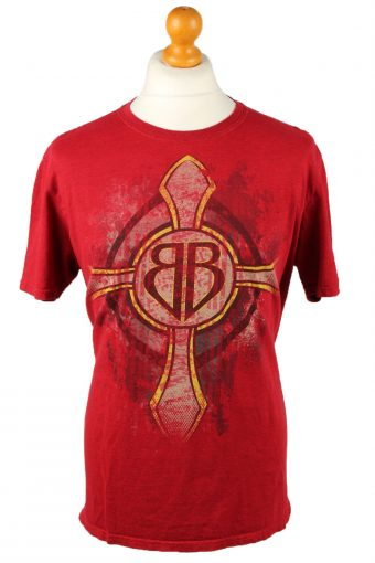 90s Retro T-Shirt Crew Neck Jeremiah 20:11 Red L