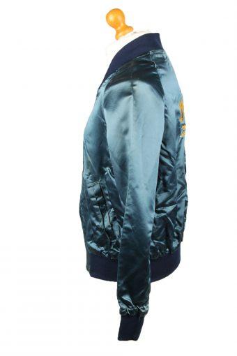 Vintage The Jacket Factory Satin Baseball Jacket Dark Blue -C1961-143600